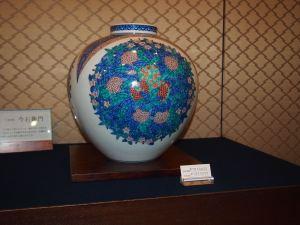 今右衛門窯 青い壺